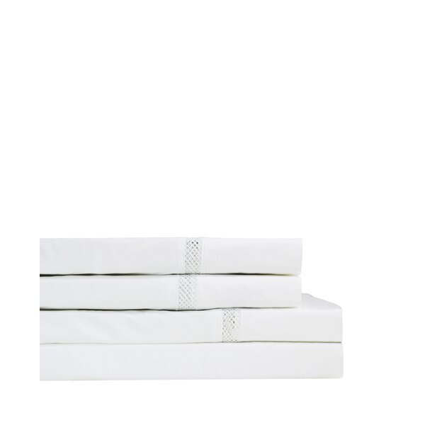 Flanigan 300 Thread Count Percale Sheet Set by August Grove