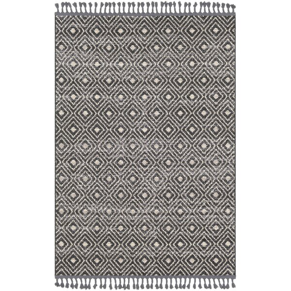 Hudgens Distressed Charcoal/Beige Area Rug by Laurel Foundry Modern Farmhouse