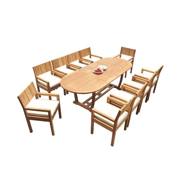Donavan 11 Piece Teak Dining Set by Rosecliff Heights