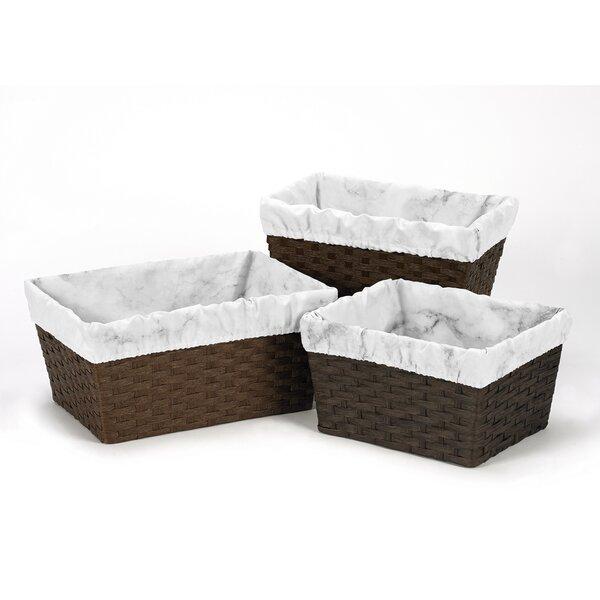 Marble 3 Piece Basket Liner Set by Sweet Jojo Designs