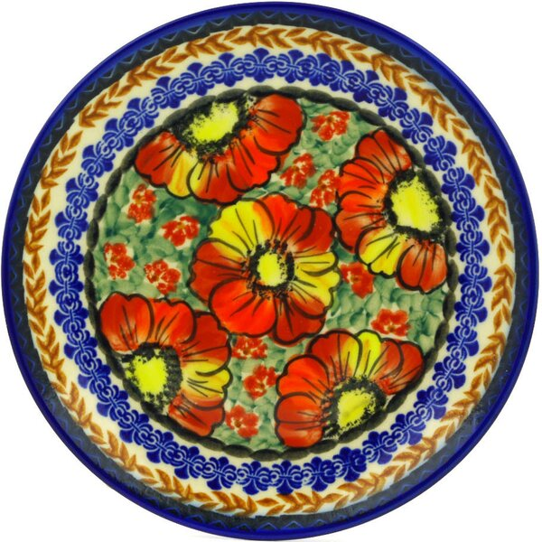 Bold Poppies Polish Pottery Decorative Plate by Po