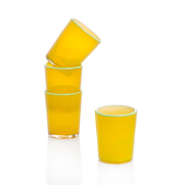 Anthea 8 oz. Glass Every Day Glasses (Set of 4) by Latitude Run