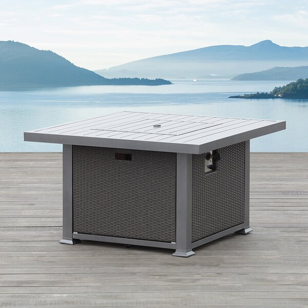 Ventura Aluminum Natural Gas Fire Pit Table by Ove Decors