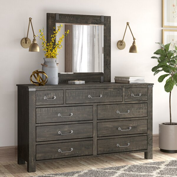 Best Choices Freida 9 Drawer Dresser With Mirror By Birch Lane™ Heritage Spacial Price