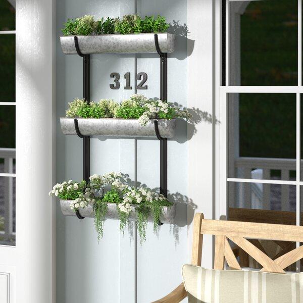 Warman Classic Farmhouse Wall-Mounting Triple Tier Metal Vertical Garden by Gracie Oaks