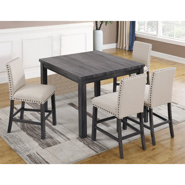 5 Piece Pub Table Set by BestMasterFurniture BestMasterFurniture