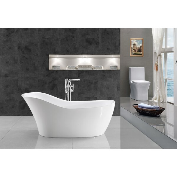 67 x 30 Freestanding Soaking Bathtub by Streamline Bath