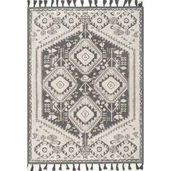 Singer Hand-Knotted Cotton Gray Area Rug by Union Rustic