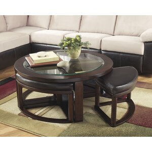 Eastin 5 Piece Coffee Table and Stool Set by Darby Home Co