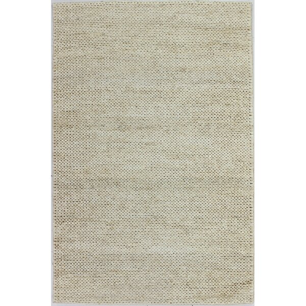 Deklan Hand-Woven Ivory Area Rug by Bungalow Rose