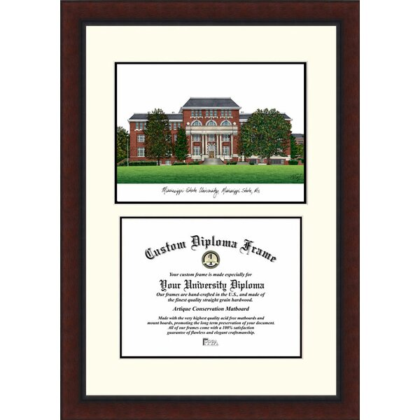 NCAA Mississippi State Legacy Scholar Diploma Picture Frame by Campus Images