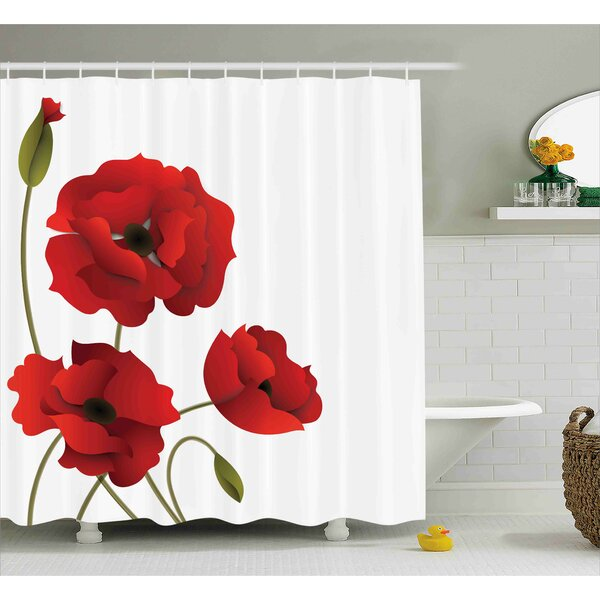 Flowers Petals and Buds Shower Curtain by East Urban Home