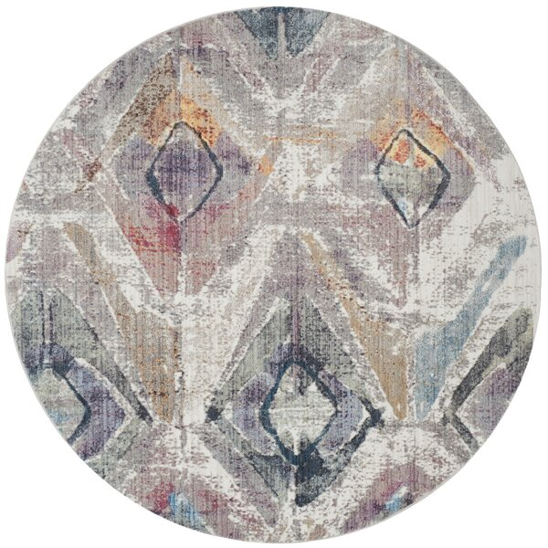 Newport Lavender/Light Gray Area Rug by Ivy Bronx