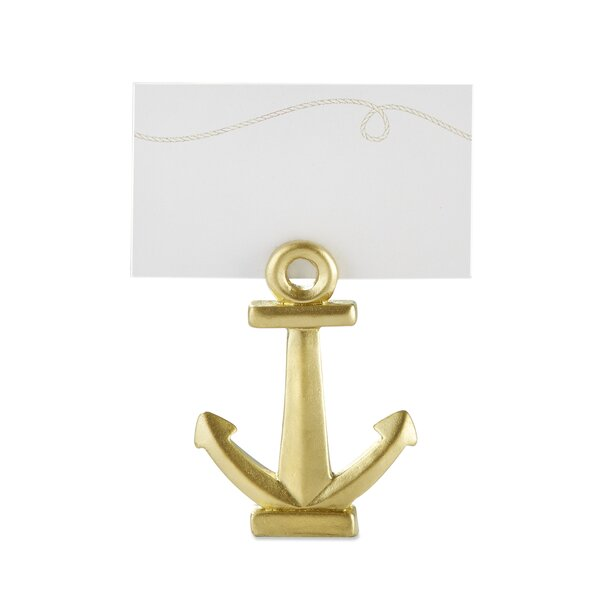 Nautical Anchor Place Card Holder (Set of 12) by Breakwater Bay