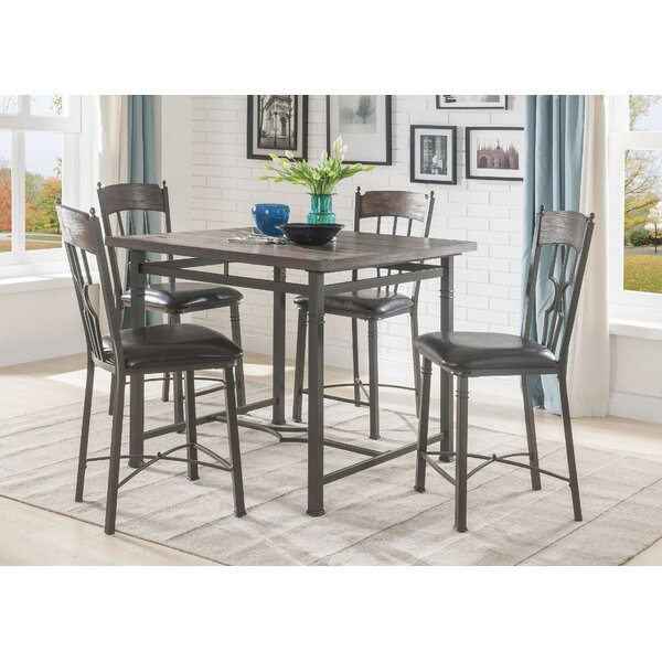 Modern Gambino Counter Height 5 Piece Pub Table Set By August Grove Best