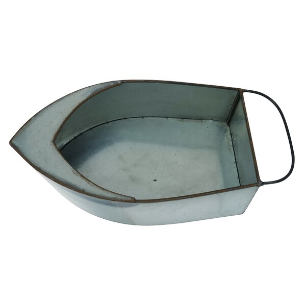 Thea Metal Spring Lake Life Boat Container by Millwood Pines