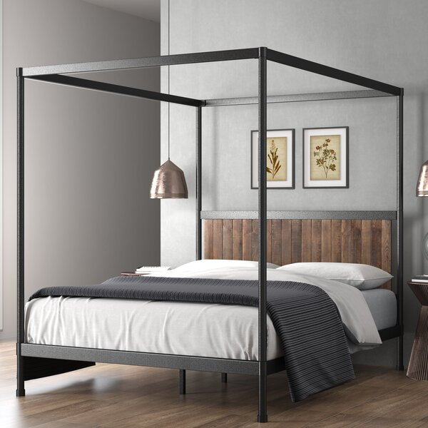 Wesley Canopy Bed By Zinus