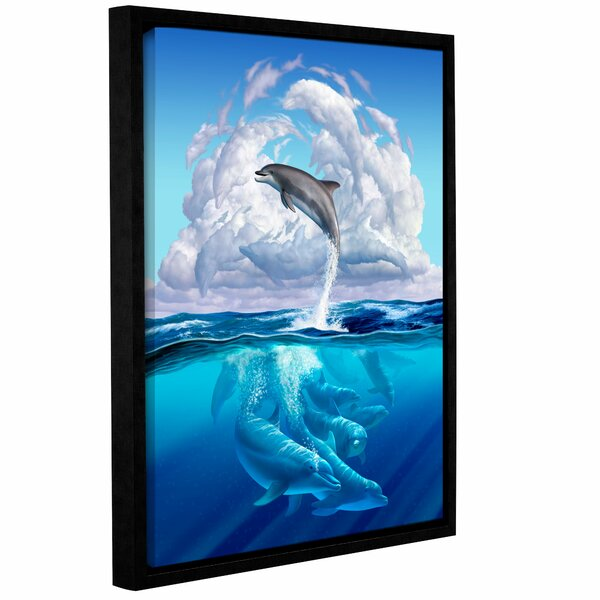 Dolphonic Symp Framed Graphic Art on Wrapped Canvas by Zoomie Kids