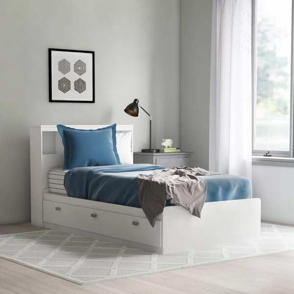 Ardin Twin Mates & Captains Bed with Drawers and Bookcase by Mack & Milo