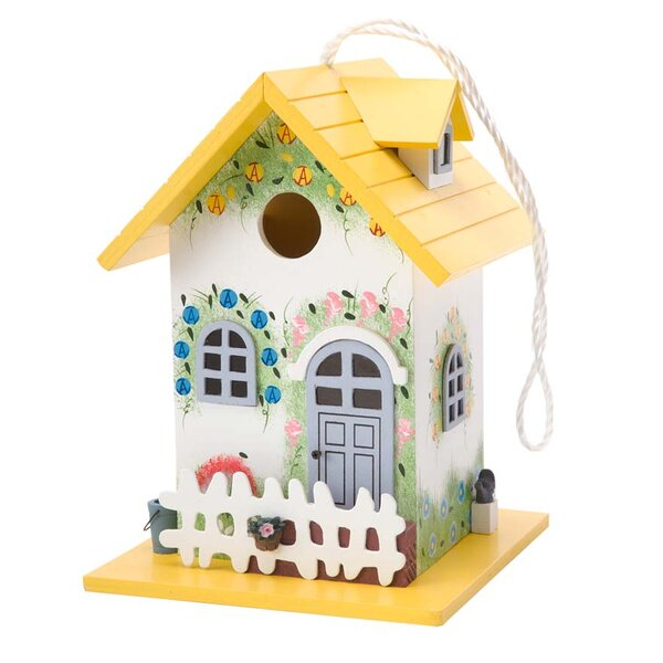 Colorful Cottage 9.75 x 7 x 7 Birdhouse by Plow &
