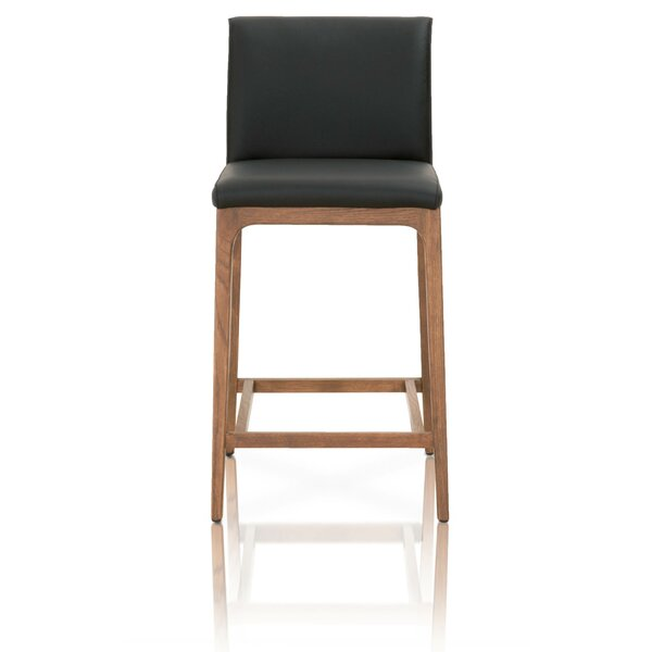 Bembry Wooden Bar Stool by Foundry Select