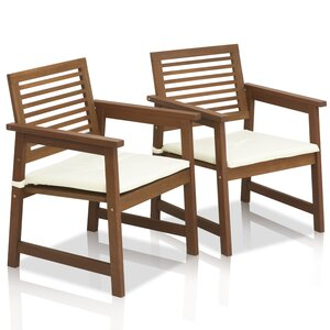 Arianna Teak Hardwood Outdoor Chair (Set of 2)