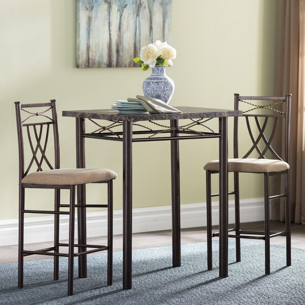 Cincinnati 3 Piece Dining Set by Andover Mills