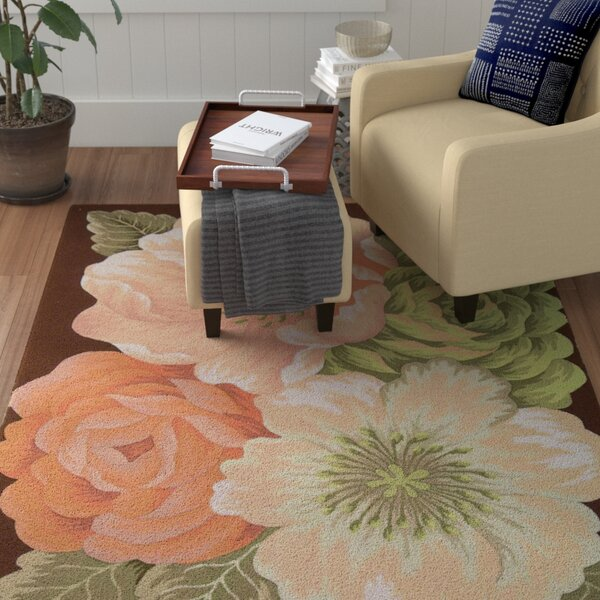 Haleigh Flower Hand-Hooked Area Rug by Winston Porter