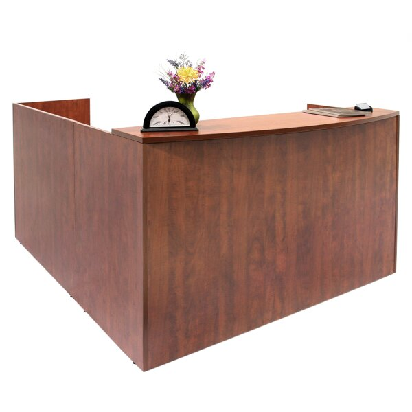 Double Pedestal L-Shape Reception Desk by Regency