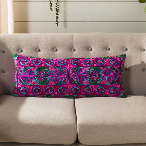 Pointer Embroidered Lumbar Pillow by Bungalow Rose