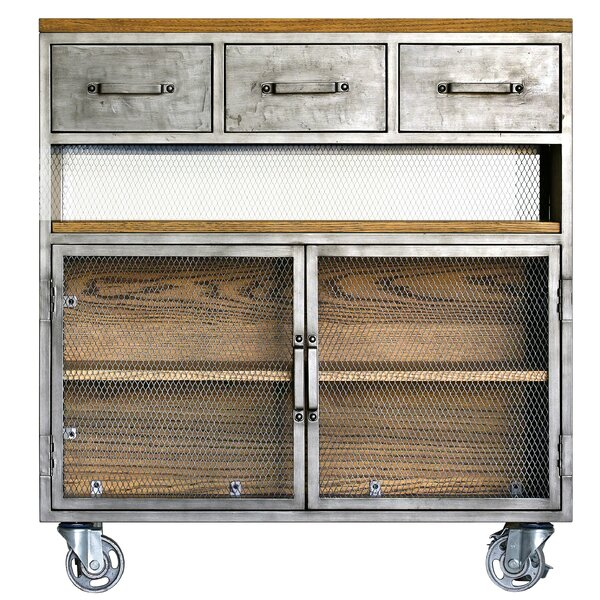Zepeda Utility Cart 2 Door Accent Cabinet by Williston Forge