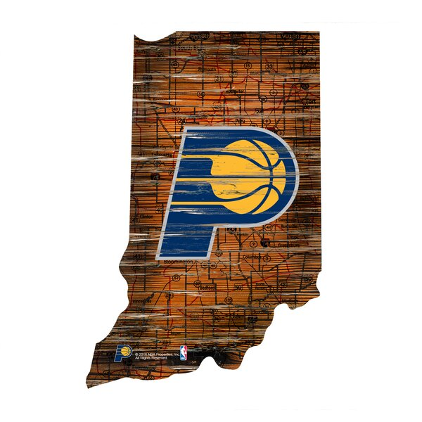 NBA Pacers Distressed State Wall Décor by Fan Creations
