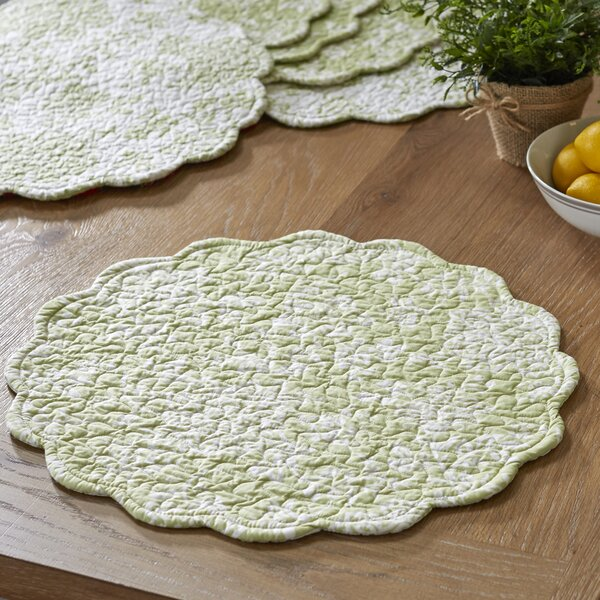 Stannis Round Quilted Placemats (Set of 6) by Birch Lane™