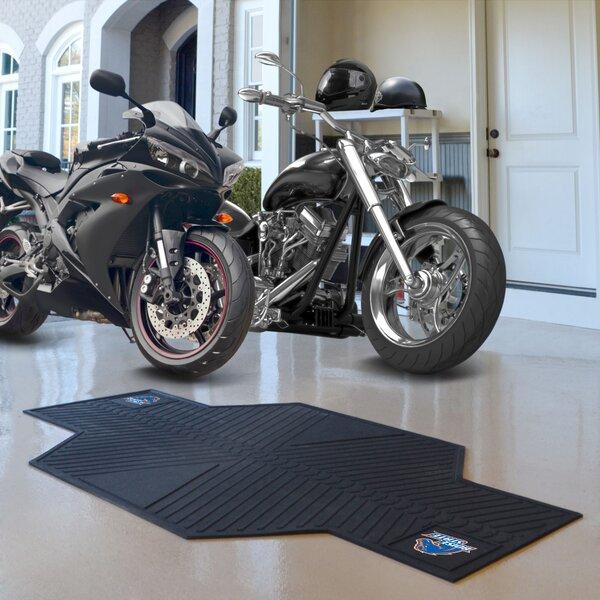 NCAA Boise State University Motorcycle Garage Flooring Roll in Black by FANMATS