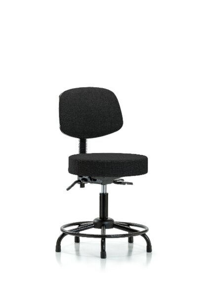 Etta Round Tube Base Bench Height Adjustable Lab Stool by Symple Stuff