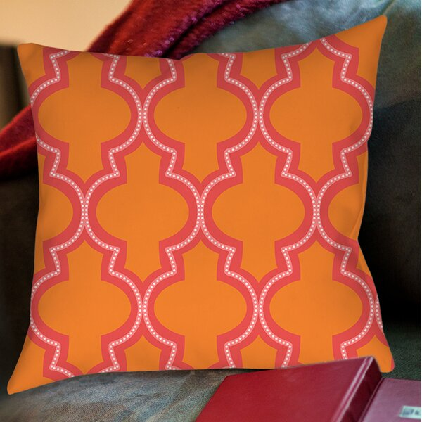 Ogee Dots Printed Throw Pillow by Manual Woodworkers & Weavers