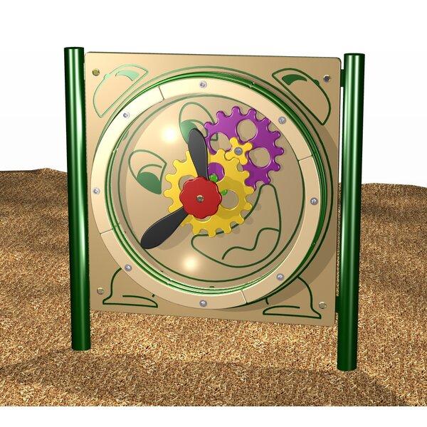 Clock/Gear Panel by Kidstuff Playsystems, Inc.