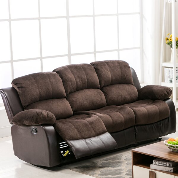 Best Reviews Brunswick Reclining Sofa by Ebern Designs by Ebern Designs