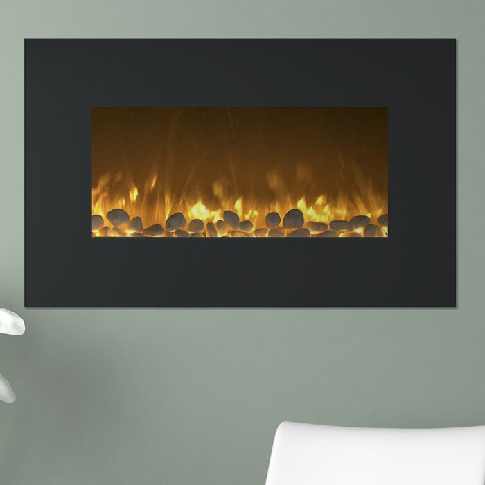 mounted heat northwest in ul led and with remote black cooling heating compressed venting fireplace n fireplaces fire b ice listed wall electric no
