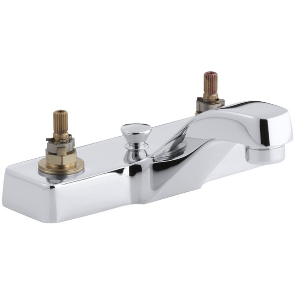 Triton Centerset Commercial Bathroom Sink Faucet with Pop-Up Drain, Requires Handles by Kohler