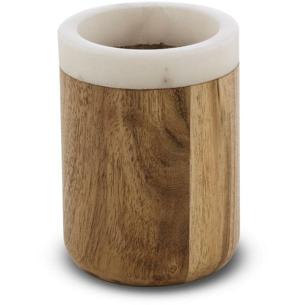 Marshal Round Marble Toothbrush Holder by Union Rustic
