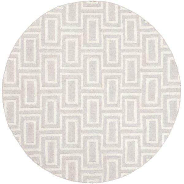 Dhurries Wool Gray/Ivory Area Rug by Safavieh