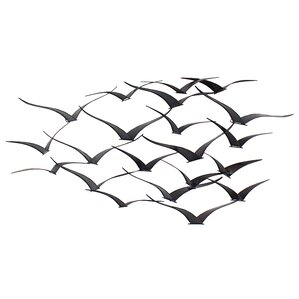 Bird Metal Wall Art flock of birds metal wall art | wayfair