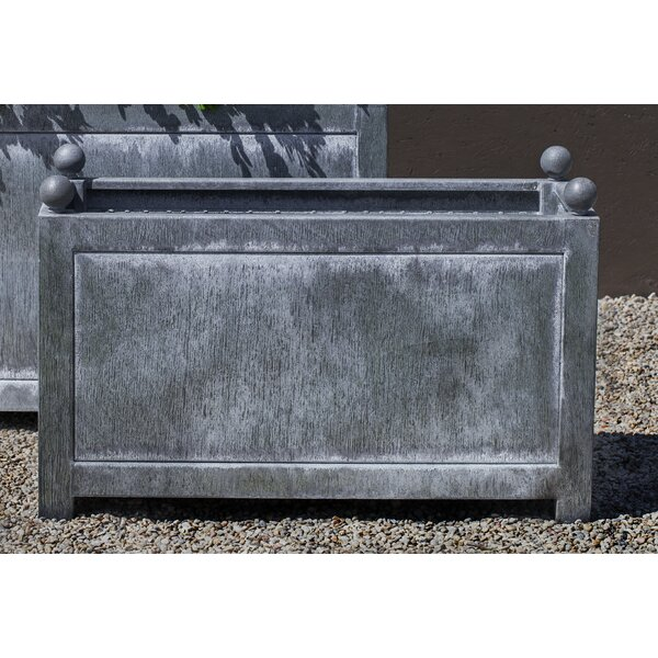 Han Rectangle Zinc Dipped Steel Planter Han by Darby Home Co