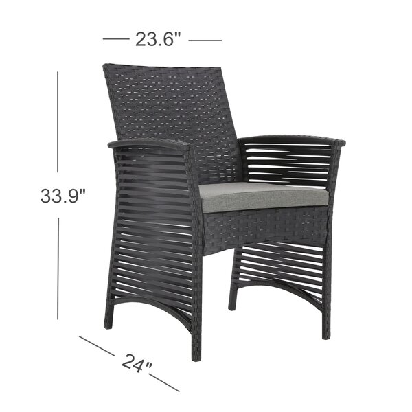 ClipperCove Backyard Pool Patio Chair with Cushions by Bay Isle Home