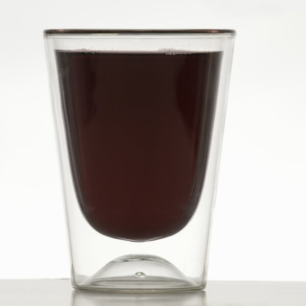 Red 10 oz. Double Wall Glass (Set of 4) by Highwave Inc.