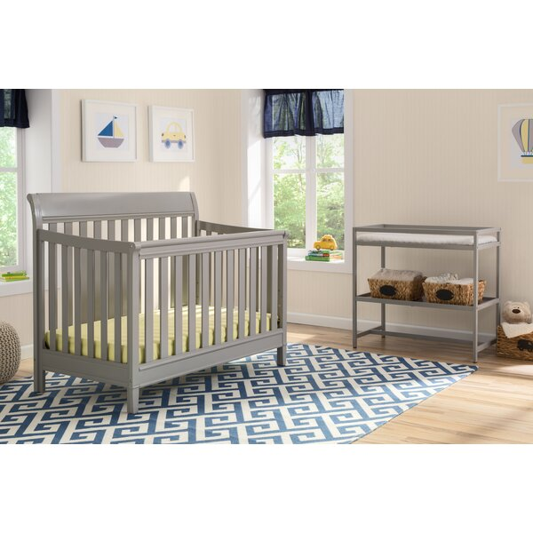 Harbor 4-in-1 Convertible 2 Piece Crib Set by Delt