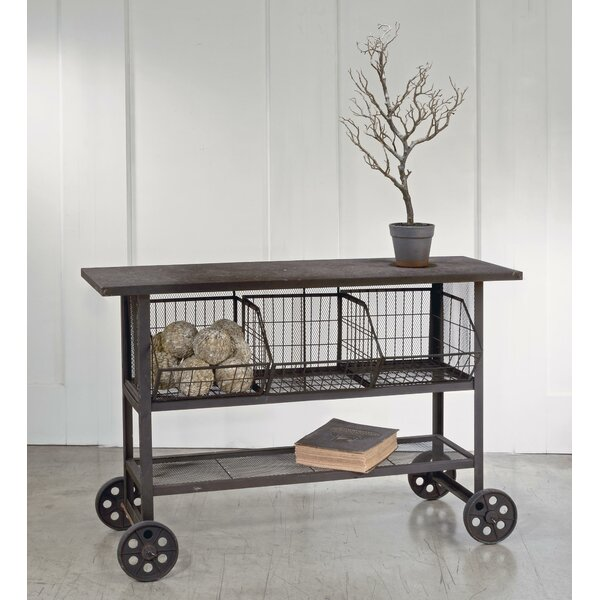 Rolling Display/Storage Console Table By Tripar