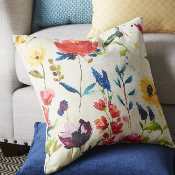 Floral Throw Pillow by Saro