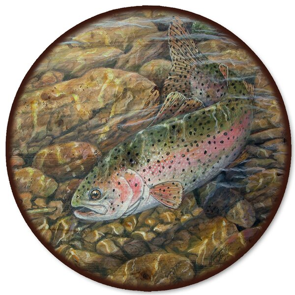 Rainbow Trout Lazy Susan by WGI-GALLERY